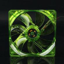 цена на GDT transparent Case fan LED Light  Fan green light  12V 4Pin 12cm 120mm 120x120x25mm