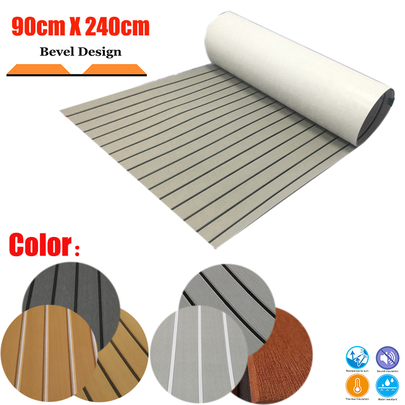EVA Foam Teak Decking Sheet Boat Flooring Carpet Self Adhesive 90cm240cm/35.4
