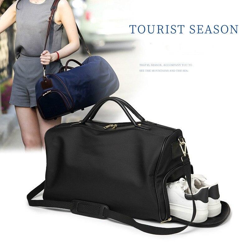 Sac de voyage pratique à la mode en Nylon sac de voyage étanche unisexe sac à bandoulière Portable à bandoulière sac à bagages Simple