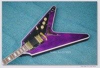 2017 mauvais chien new custom toutes sortes de couleur alien guitare livraison gratuite couleur pourpre flying v guitare électrique