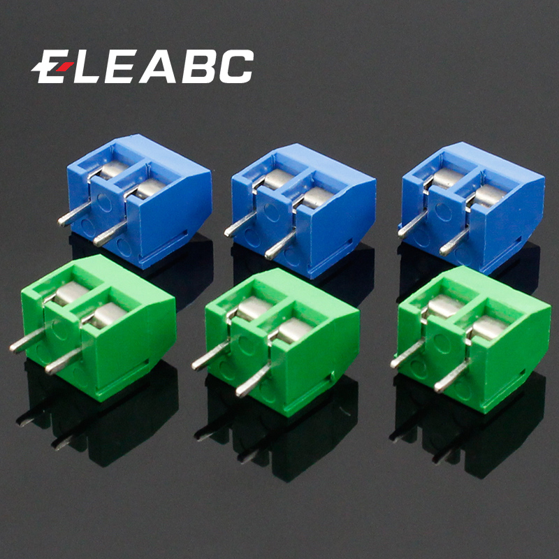 20pcs 2 Pin 5.08mm Blue Plug-in PCB Screw Terminal Block Connector 300V 16A