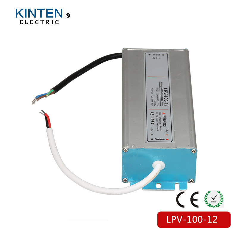 (LPV-100-12) IP67 Constant voltage AC to DC 100w waterproof driver 12V constant voltage led power supply 12v 100w kvp 24200 td 24v 200w triac dimmable constant voltage led driver ac90 130v ac170 265v input