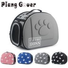 Bolsa de viagem para gatos, bolsa transportadora, cachorros, gatos, portátil, dobrável, de ombro