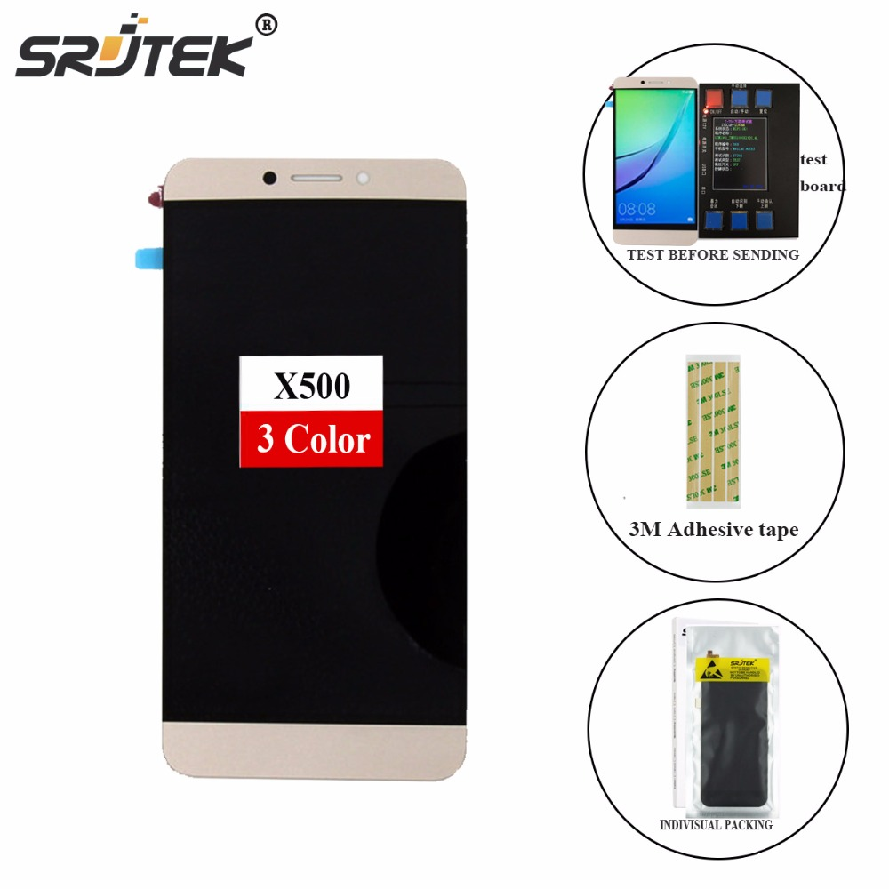 Srjtek For Letv X500 LCD Display + Touch Screen 100% Tested Digitizer Assembly Replacement Accessories For Letv Le 1S X501 Phone brand new lcd with touch screen panel digitizer for letv leeco 1s x500 lcd display for letv le 1s x501 phone with tools 1pcs