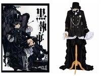 אנימה השחור באטלר Ciel Phantomhive Cosplay תלבושות חדשים חליפה שחורה תלבושת תלבושות