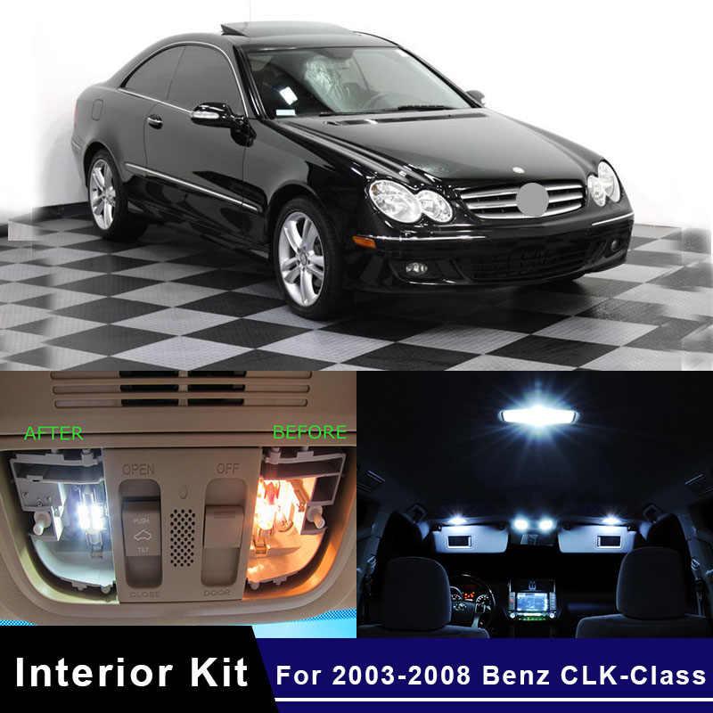 Edislight 16Pcs Canbus LED Car Interior Lights Kit For 2003-2008 Mercedes Benz CLK-Class Map Dome Glove Box Trunk Plate Lights