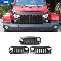 MOPAI ABS Car Front Racing Grille Decoration With Insect Net Cover for Jeep Wrangler JK 2007 2017 Car Accessories Styling|Racing Grills|   -