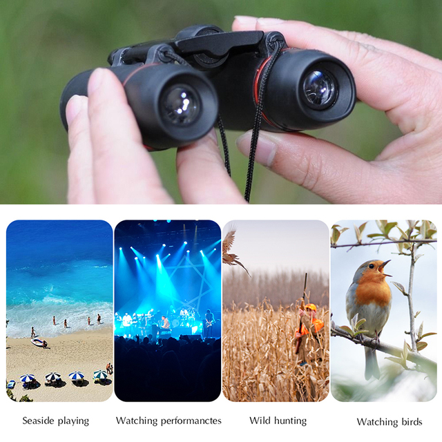 Zoom Telescope 30×60 Folding Binoculars with Low Light Night Vision for outdoor bird watching travelling hunting camping 1000m