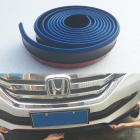 Blue With Black 2.5M Car Front Bumper Lip Protector Rubber Splitter Valance Chin Body Guard Side Skirt Spoiler Cover