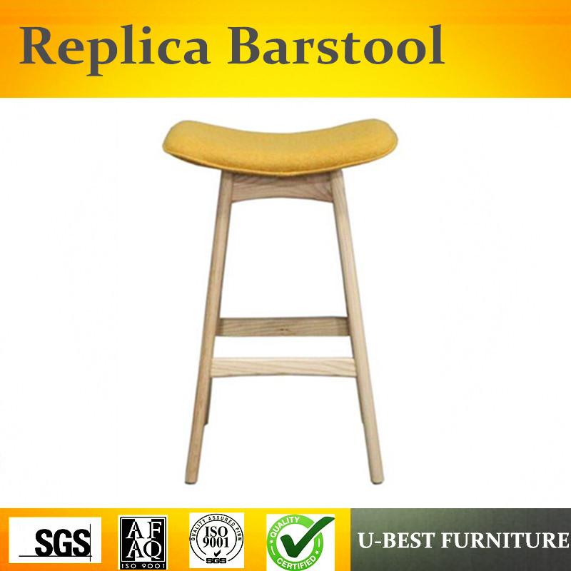 Free Shipping U-BEST Stackable Backless Seat Counter Stool, Solid Wood Vintage Industrial Bar Stools