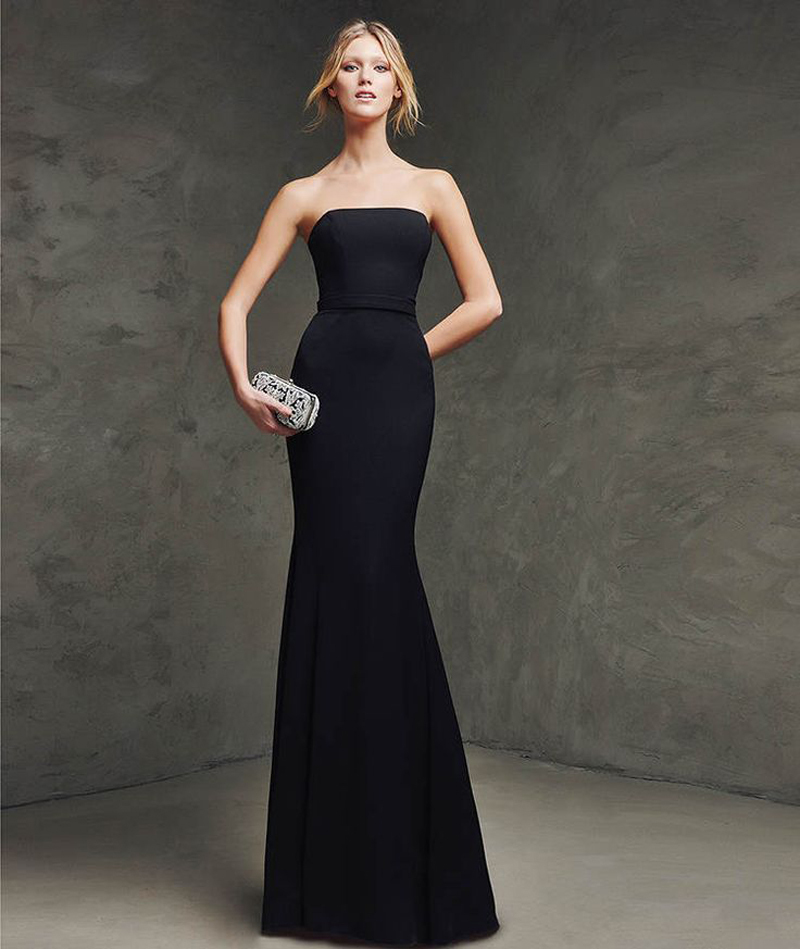 Popular Black Strapless Gown-Buy Cheap Black Strapless Gown lots ...