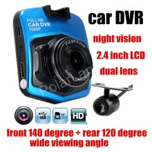dual lens Car DVR front 140 Degree and rear 120 degree wide viewing angle auto Camera Recorder Night Vision Dash Cam hot sale