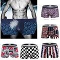 Novo 2016 Troncos Sexy Men Cueca Boxer Shorts Bulge Cuecas Mens Underwear L-XXL macio Atacado