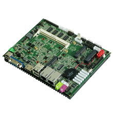 Fanless Intel Atom N2800 Mainboard with 2Gb Memory 6x COM 6x USB 2x LAN 1x HDMI 1x VGA Industrial Motherboard for POS system