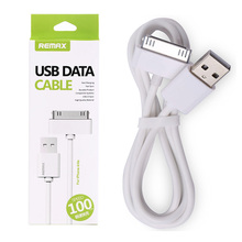 Original case Remax USB cable 100cm Charging Data Sync Support 2.1A Current  for iPhone4 iPhone 4s
