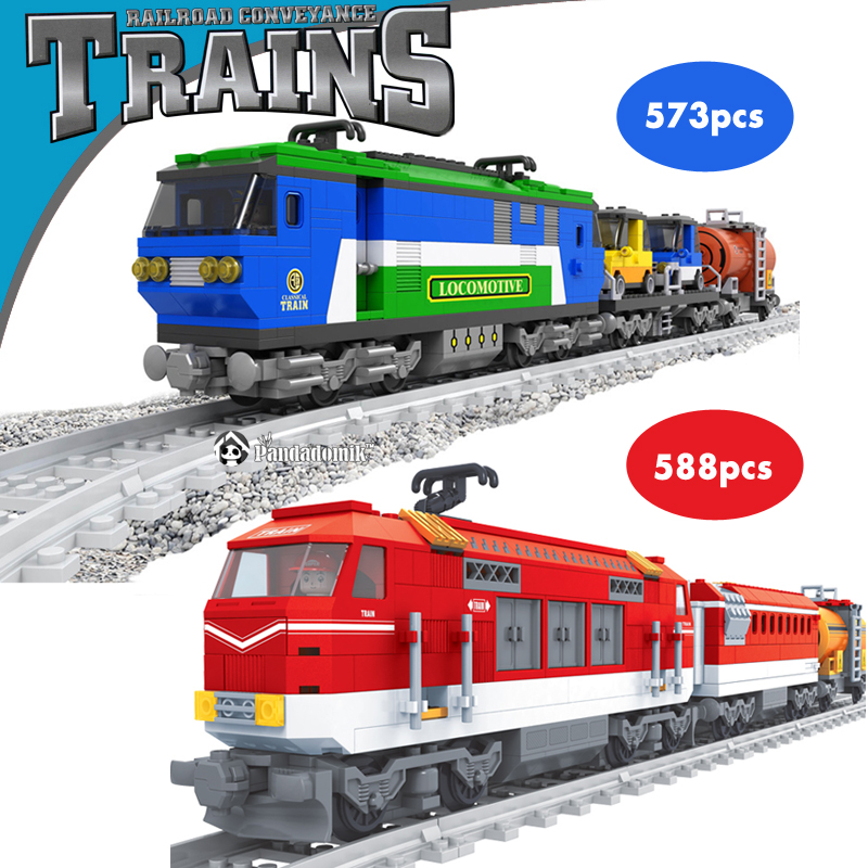 ФОТО Train Railroad Conveyance 573Pcs Scale Models Building Toy  Learning Education Toys Building Blocks Compatible with lego Bricks