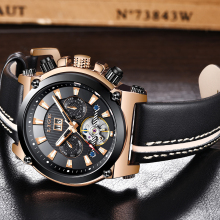 LIGE NEW watch mens automatic machinery fashion top brand sport tourbillon stainless steel quartz Relogio Masculino