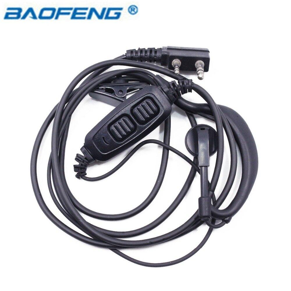 Baofeng UV-82 Dual PTT Headset Earpiece Earphone With Mic for Baofeng UV-82 UV-8D UV-82L UV-89 UV-82HP Walkie Talkie