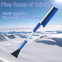 Car Snow Brush Auto Multi Function Snow Shovel With EVA Cotton Long Snowbrush 5 Rows Of