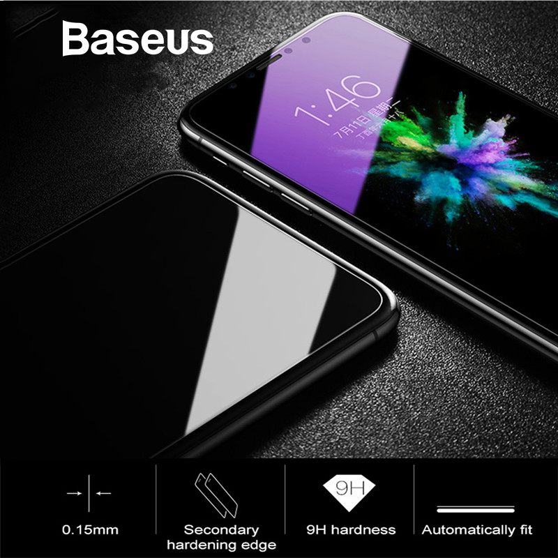 Baseus Protective Glass For iPhone X 0.15mm Thin Screen Protector