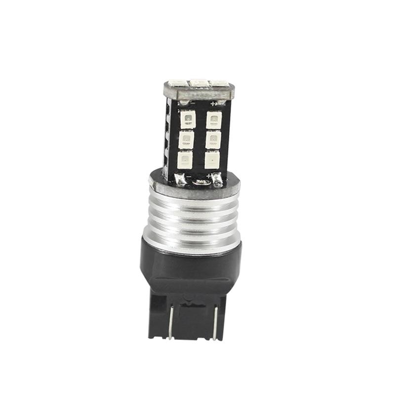T20 W21/5W 7443 LED Bulbs 15 SMD Turn Signal Lights Led 7443 T20 Red White Yellow Blub DC 12V