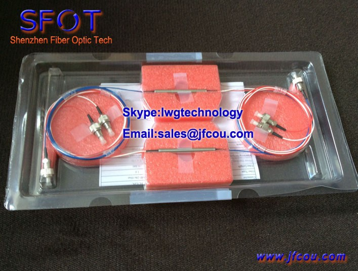 3 port Polarization Insensitive Optical Circulator with optional connector SC FC ST LC