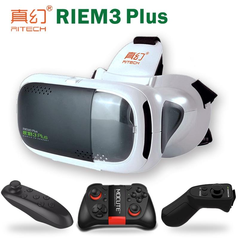 RITECH Google Cardboard Casque 3 D font b VR b font Box 3D Virtual Reality Glasses