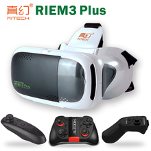 RITECH Google Cardboard Casque 3 D VR Box 3D Virtual Reality Glasses Goggles Headset Helmet For Smart Phone Smartphone Game Box