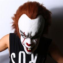 Movie Stephen Kings It Mask Pennywise Clown Halloween Cosplay Costume Latex Masks Prop