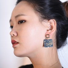 Japanese Acrylic Geometric Earrings