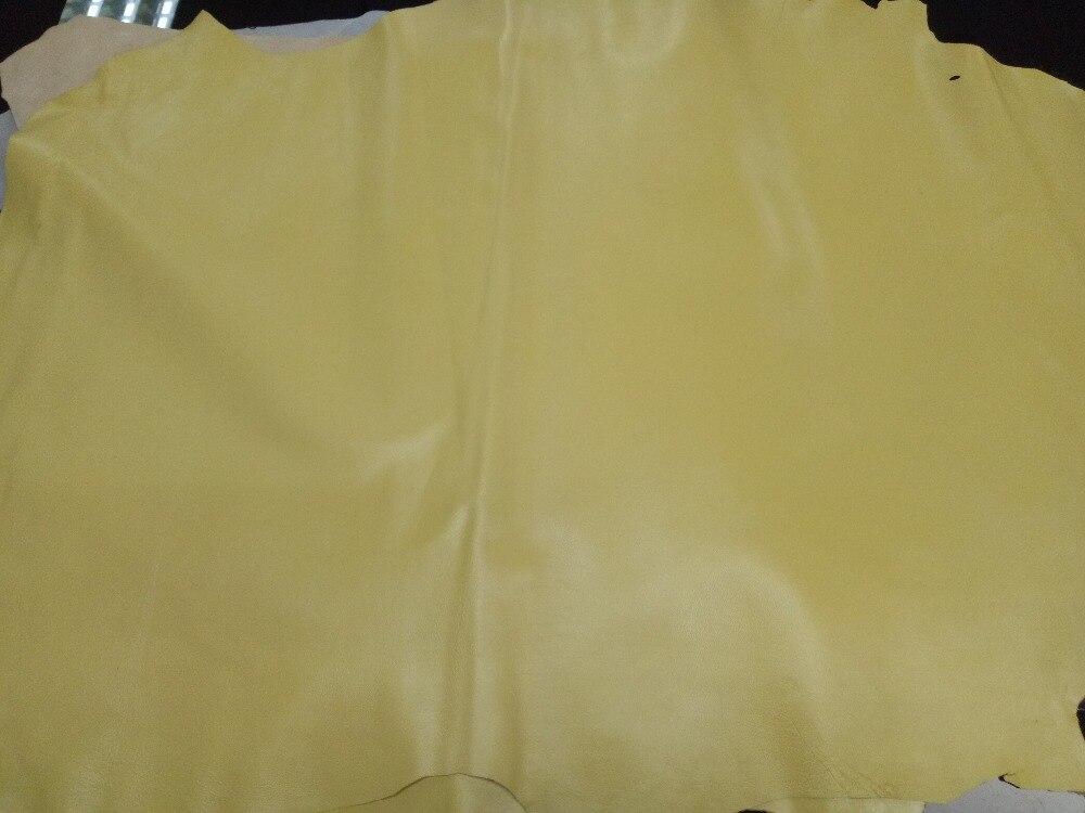 Мягкий желтый Натуральная овечья кожа Материал для Обувь/Чемодан/сумки/бумажник, бесплатная доставка