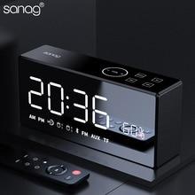 Sanag X9 Bluetooth Металл Портативный супер бас беспроводное зеркало динамик с дистанционным управлением 3D цифровой звук громкий динамик микрофон Hands-Free