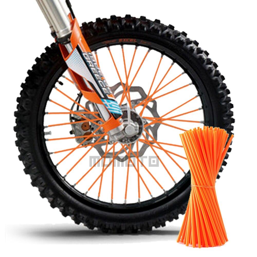 72 stücke Motocross SPEICHEN SKINS Felge SPRACH WANTEN ABDECKUNGEN Für KAWASAKI yamaha Suzuki gsx r Ducati Dirt Bike ktm DUKE t max 530