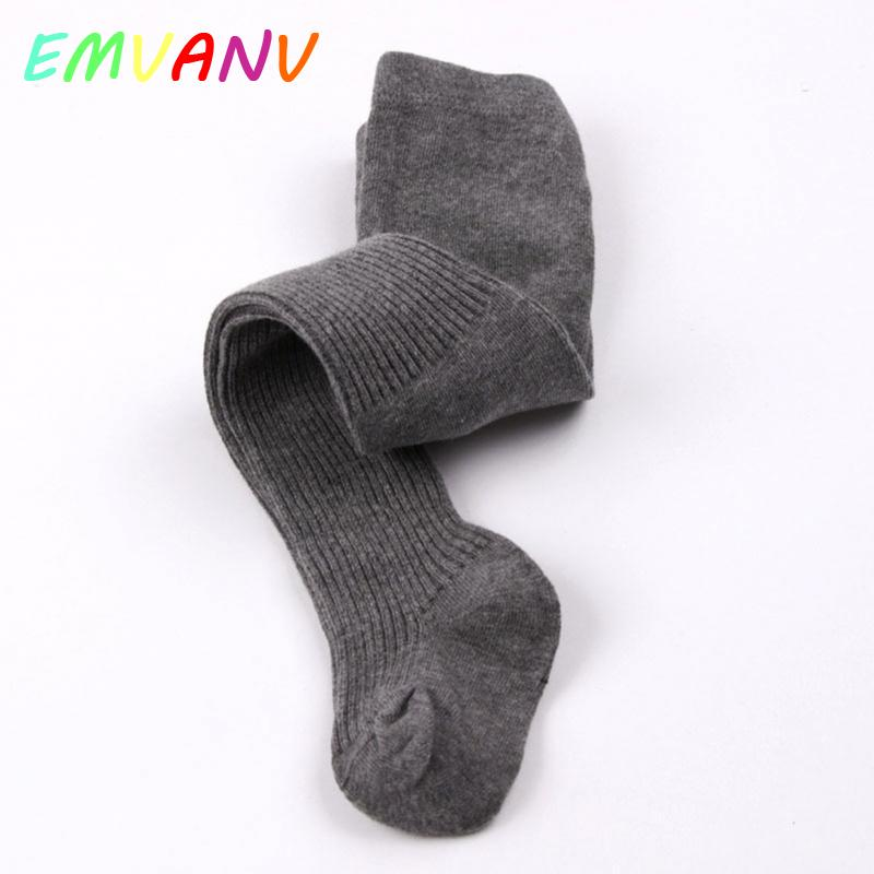 For 0-5Y Cotton Toddler Baby Kids Girls Boys Solid Pure Color Cotton Tights  Pants Hosiery Knitting Warm Pantyhose