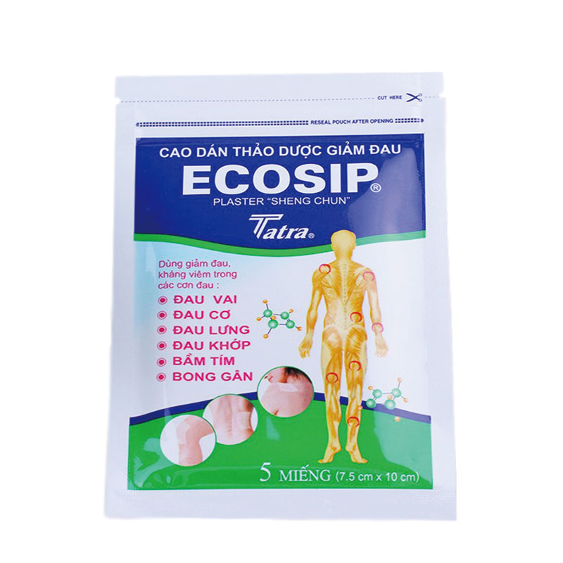 100Pcs/20bag ECOSIP Treatment Osteoarthritis Bone Hyperplasia Omarthritis Rheumatalgia Spondylosis Paste Pain Relieving Patch