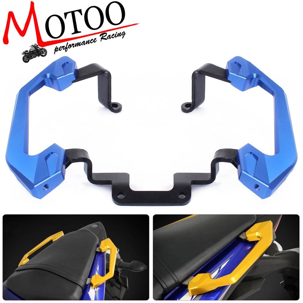 Motoo - Free Shipping Rear Grab Bars Rear Seat of Passenger Grab Rail Handle For Yamaha YZF R3 2013 2014 15 16 car accessories front seat grab handles grab bars 2