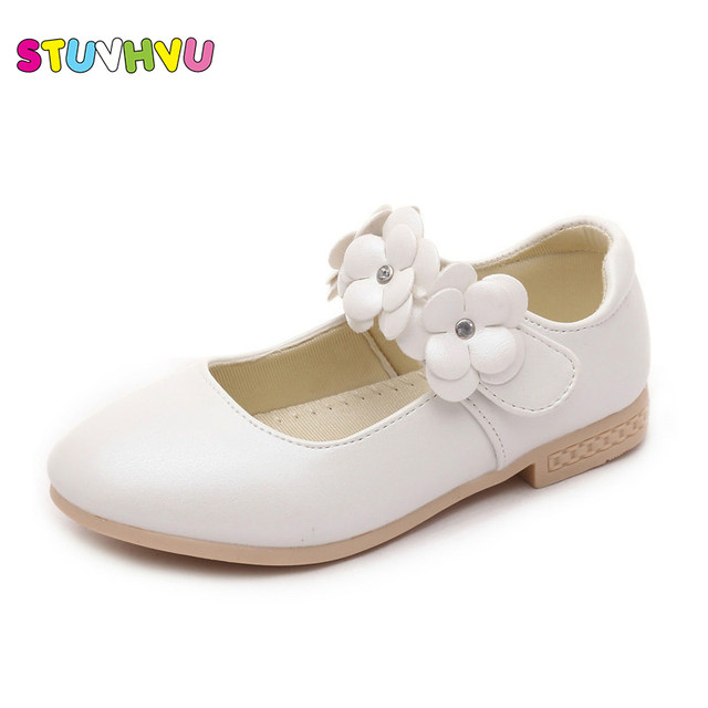 Online shop childrens flower girl shoes 2017 new baby kids girls childrens flower girl shoes 2017 new baby kids girls white shoes girls school princess shoes high heeled leather girl shoes mightylinksfo
