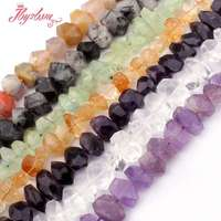 SALE FREE SHIPPING DIY NECKLACE JEWELRY MAKING 10 18X10 20MM FACETED FREEFORM SHAPE NATURAL BEADS STRAND