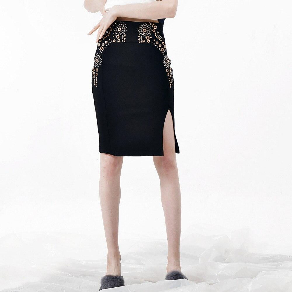 c9866b0784d1de Du Retour Noir D'été Jupe Dessus Femmes Zipper Solide Moulante Sexy ...