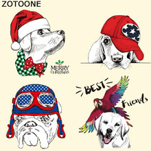 ZOTOONE Cute Dog Sticker Patches Waterolor Fashion Clothes Decoration Washable Diy Accessory Print on T-Shirt Iron Transfers