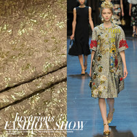 European And American Fashion Catwalk Bronzing Convex Three Dimensional Jacquard Fabric Cloth Dress Autumn And Winter
