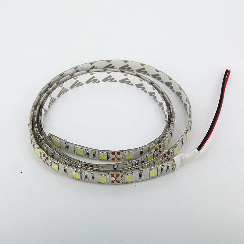 IP65 Waterproof 1M 60 LED Strip 5050 Flexible Light  Warmwhite Cool White  Blue Green  Red Yellow For Car Motor Boat Showcase