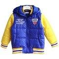 Зимние куртки  Новое поступление 2014 Зимняя детская одежда Куртка корейской версии для мальчиков Нейтральный шитый хлопка-ватник
