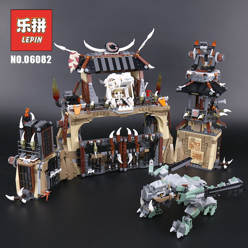 Lepin Ninja Movie 06082 the Dragon Pit Set Compatible 70655 Building Blocks Bricks DIY Educational Kids Toys Children Gifts