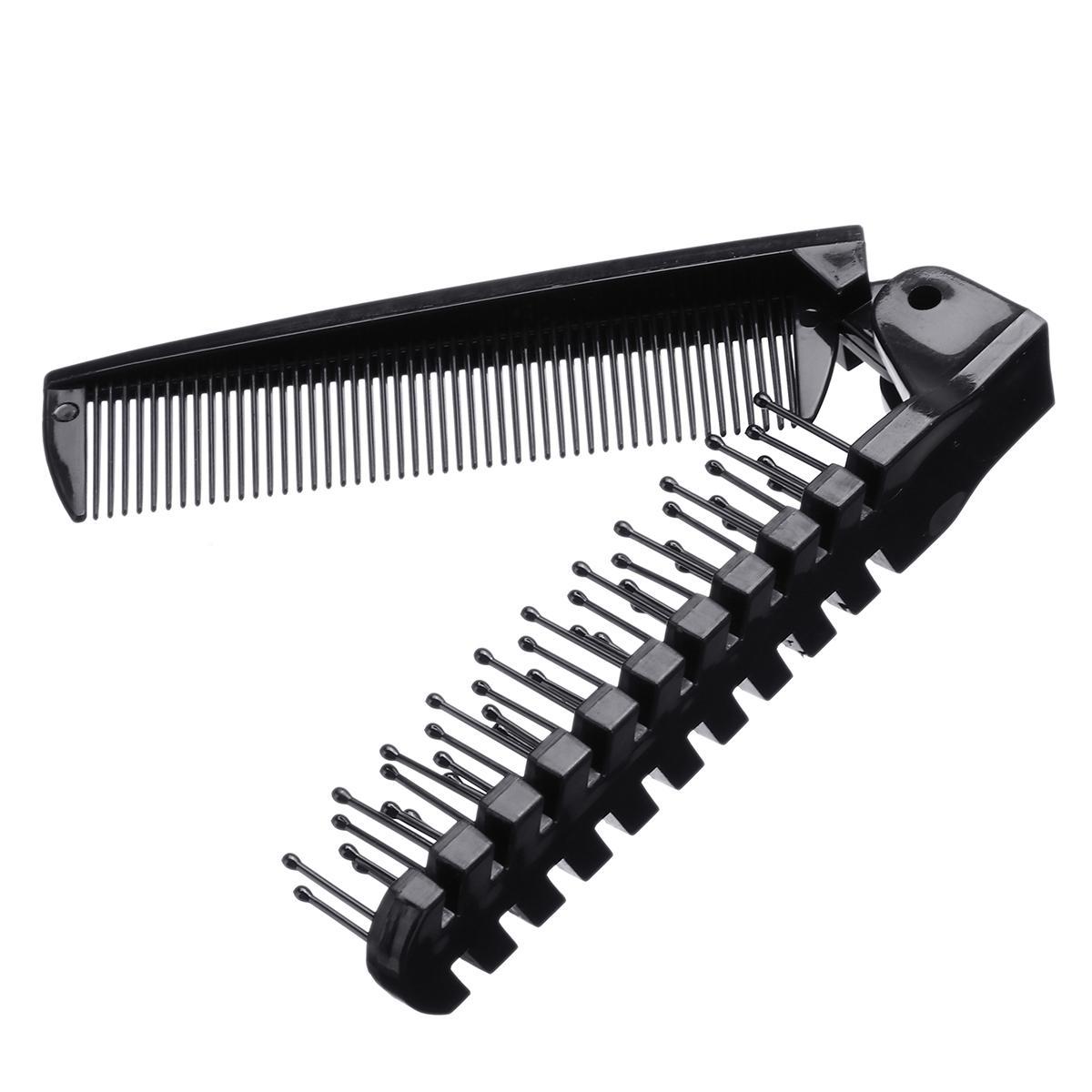 1 Pcs Folding Comb Men Women Beauty Handmade Portable  Folding Bag Clip Anti-Static Hair Moustache Beard Comb Hairdressing Tools