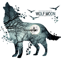 Horrific Wolf Moon Forest Wall Sticker PVC Material Modern DIY Home Decor Sticker For Living Room