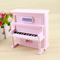 Antique Vintage Piano Music Box Dancing Music Jewelry Boxes Plastic Mechanical Musical Box Personality Gift Decor