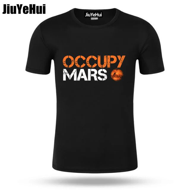 Summer Men Occupy Mars SpaceX Starman   T     Shirt   Cool Man 100% Cotton Elon Musk Space X   T  -  Shirt   Summer Camiseta Men's TShirts
