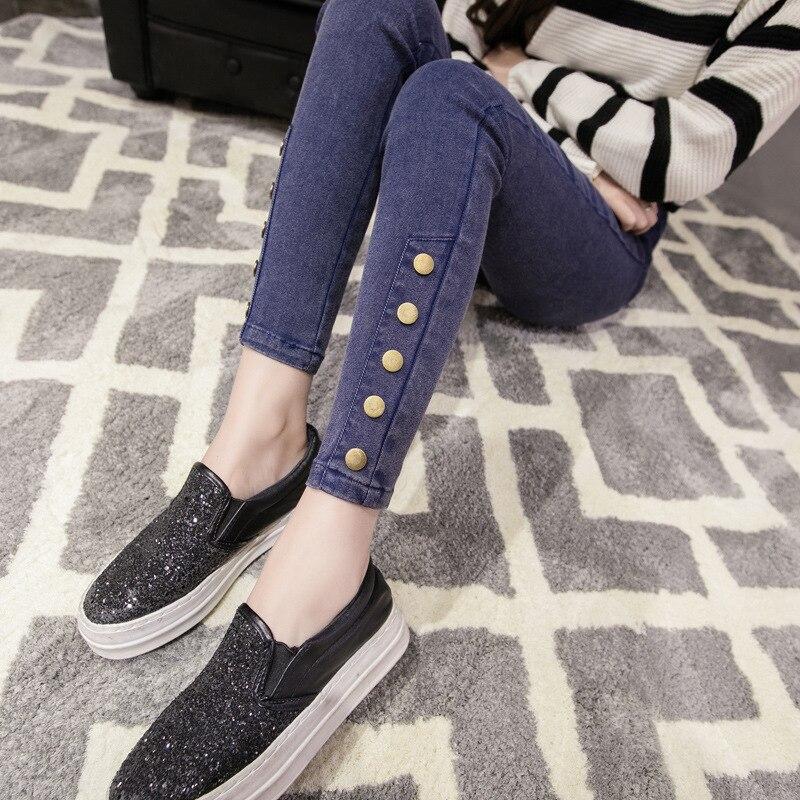 Pencil Jeans Elastic-Waist Pants Women Stretch Female New Skinny High