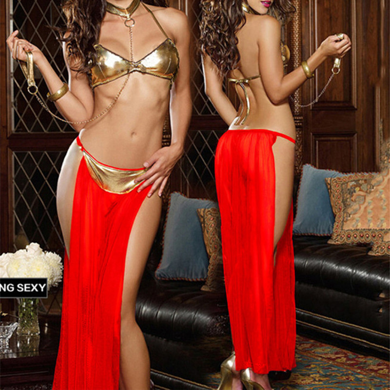 Buy 2018 Women sexy lingerie hot Gold leather Bra Mesh exotic Pole dancing Lingerie Temptation sexy erotic lingerie sexy costumes